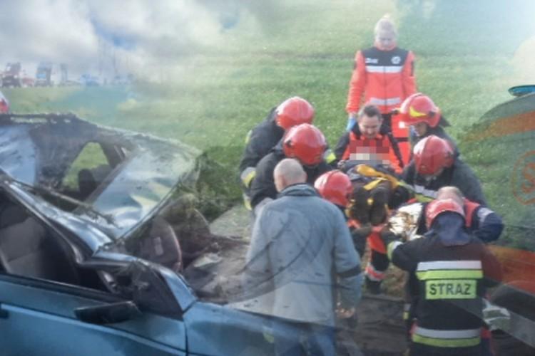 OMAL NIE UTOPIŁA SIĘ W ROWIE PO DACHOWANIU NA TRASIE MALBORK - ELBLAG NA DK 22 – 16.04.2014