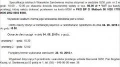 PRZETARGI NIEOGRANICZONE NA WYKONANIE REMONTU ELEWACJI Z DOCIEPLENIEM BUDYNKÓW WIELORODZINNYCH W MALBORKU - 30.10.2015