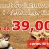 Telewizja HD + Internet światłowodowy już od 39 zł. Malborska Kablówka 3 Generacji już w sprzedaży.