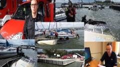 Zatonęła łódź motorowa w Marinie. Nowodworski Raport Służb Mundurowych - 10.08.2016