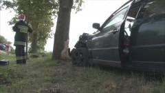 30-latka Passatem zjechała z drogi i uderzyła w drzewo na trasie Gościszewo – Sztum – 12.08.2016