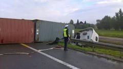 Kazimierzowo. Tir zablokował ruch na siódemce - 23.09.2016