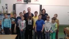 Policjanci o ruchu drogowym z dziećmi z SP nr 2 czyli zajęcia z wychowania komunikacyjnego – 03.11.2016