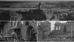 Zniszczony po wojnie zamek w Malborku. Zobacz wideo z 1947 roku
