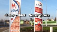 Nowe witacze, witają wszystkich przy wjeździe do Malborka – 22.12.2016