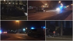 Wypadek na al.Wojska Polskiego w Malborku. Zatrzymano dwóch pijanych mężczyzn - żaden nie przyznaje się do winy - 29.12.2016