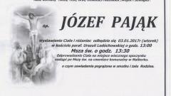 Zmarł Józef Pająk. Żył 81 lat.