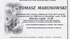 Zmarł Tomasz Marunowski. Żył 30 lat.