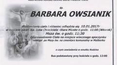 Zmarła Barbara Owsiak. Żyła 79 lat.