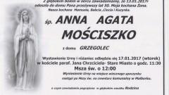 Zmarła Anna Agata Mościszko. Żyła 50 lat.