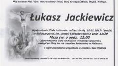 Zmarł Łukasz Jackiewicz. Żył 33 lata.