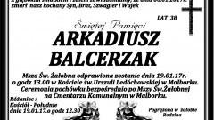 Zmarł Arkadiusz Balcerzak. Żył 38 lat.