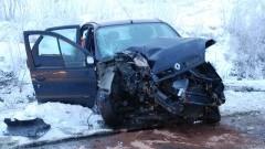 Brzózki: Straciła panowanie nad samochodem i uderzyła w drzewo. Kierująca oraz pasażer zostali przewiezieni do szpitala - 17.01.2017