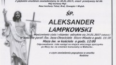 Zmarł Aleksander Lampkowski. Żył 66 lat.