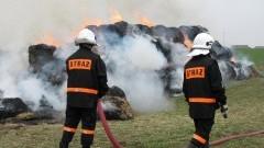 Podpalał baloty z sianem i przyglądał się akcji strażaków. Policjanci zatrzymali piromana - 13.02.2017