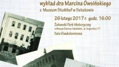 Zapraszamy na wykład w ramach Żuławskiej Kafejki Historycznej. Gościem będzie dr Marcin Owsiński z Muzeum Stutthof -26.02.2017