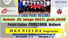 Mecz Polski Cukier POMEZANIA Malbork – MKS NIELBA Wągrowiec już w sobotę – 25.02.2017