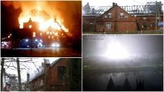 Nawet 400 tys. strat. Potężny pożar w Kałdowie. Akcja trwała kilka godzin - 10.03.2017