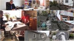 Nowy Dwór Gd. Walczył z wodą 3 miesiące. Awaria na Słowackiego - 10.03.2017
