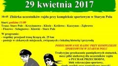 """Zapraszamy na XIII Wiosenny Rajd Rowerowy """"Sąsiedzi zza miedzy"""" w Starym Polu - 29.04.2017"""