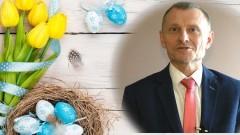 Jacek Michalski, Burmistrz Nowego Dworu Gdańskiego i Wojciech Krawczyk, Przewodniczący Rady Miejskiej składają życzenia wielkanocne