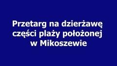 Przetarg na dzierżawę części plaży położonej w Mikoszewie, Wójt Gminy Stegna informuje - 13.04.2017