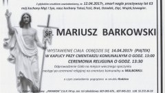 Zmarł Mariusz Barkowski. Żył 63 lata.