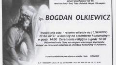 Zmarł Bogdan Olkiewicz. Żył 65 lat.