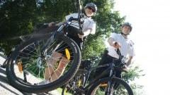 Elbląscy policjanci na rowerach ruszyli w miasto