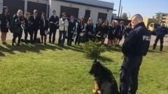 Spotkanie malborskich policjantów z uczniami ZS nr 4 - 19.05.2017