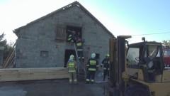 Pożar budynku w Stegience - Wsi 25.05.2017