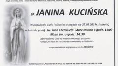 Zmarła Janina Kucińska. Żyła 82 lata.