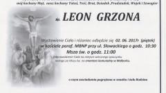 Zmarł Leon Grzona. Żył 76 lat.