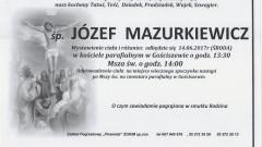 Zmarł Józef Mazurkiewicz. Żył 86 lat.
