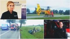 Wypadek na DK22. 47-latka wpadła do rowu i koziołkowała. Ona i pasażerowie trafili do szpitala. Weekendowy raport służb mundurowych – 26.06.2017