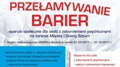 Sztum: Przełamywanie Barier. Program MGOPS na rzecz osób z zaburzeniami psychicznymi – 01.04.-31.12.2017
