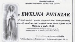 Zmarła Ewelina Pietrzak. Żyła 56 lat