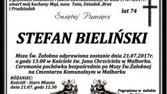 Zmarł Stefan Bieliński. Żył 74 lat