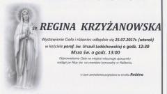 Zmarła Regina Krzyżanowska. Żyła 93 lata.