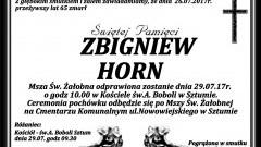 Zmarł Zbigniew Horn. Żył 65 lat.