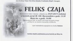 Zmarł Feliks Czaja. Żył 87 lat.