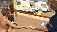 """Malbork : """"Kręci mnie bezpieczeństwo nad wodą"""" - na plaży miejskiej - 09.08.2017"""