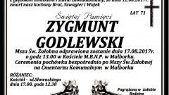 Zmarł Zygmunt Godlewski. Żył 71 lat.