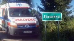 Wypadek w Skowronkach na mierzei, droga do Krynicy Morskiej zakorkowana - 14.08.2017