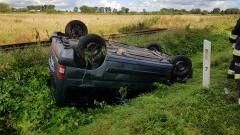 Tujsk: Samochód dachował, kierowca z lekkimi obrażeniami. - 23.08.2017