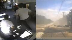 Nagranie z momentu uderzenia pociągu w zwalony wiadukt. Tak należy się zachować w momencie zagrożenia – 29.08.2017