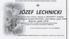 Zmarł Józef Lechnicki. Żył 80 lat.