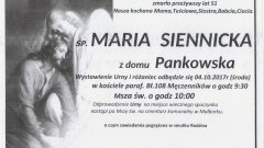 Zmarła Maria Siennicka. Żyła 51 lat.