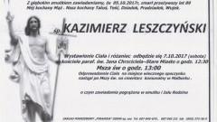 Zmarł Kazimierz Leszczyński. Żył 89 lat.