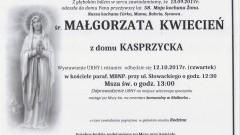 Zmarła Małgorzata Kwiecień. Żyła 58 lat